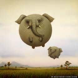 Home Decor Elephants naoto hattori paints elephant balloon animals in this