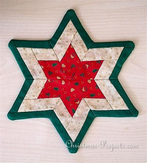 free christmas sewing craft project patchwork star