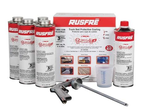 truck bed liner kit rusfre truck bed liner bed protective coating kit in black for 8 bed