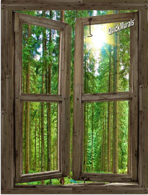canvas wall murals country cabin window peel stick 1 canvas wall mural