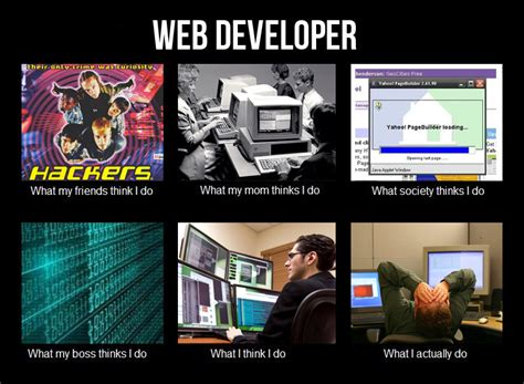 Web Developer Meme - image 250198 what people think i do what i really
