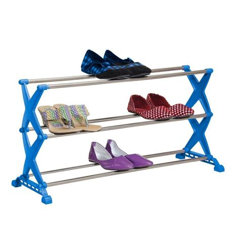 Shoe Rack 3 Tier by Bonita Global Bonita Global Sr03 40bl Stylo 3 Tier Shoe