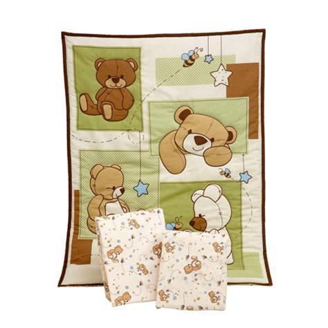 Teddy Crib Sets by Bedding By Nojo Dreamland Teddy 3 Portable