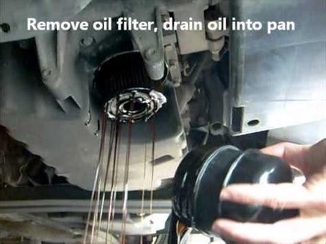 oil change  oil filter change volvo   youtube