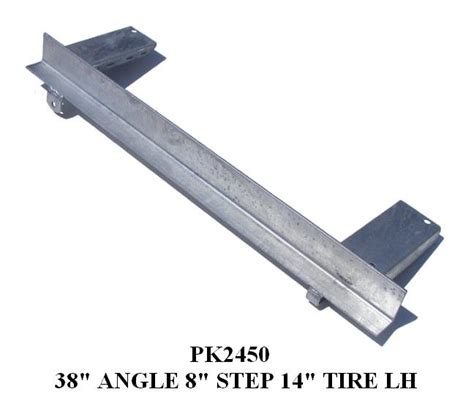 boat trailer undercarriage undercarriage angle 38 quot w 8 quot step pads pk2450 pk2460
