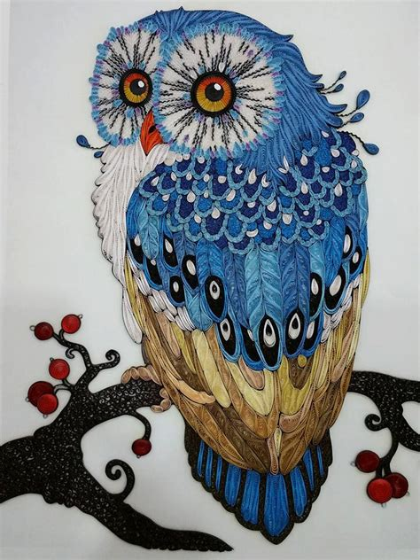 Handmade Artist - handmade owl paper quilling by giftablearts on etsy