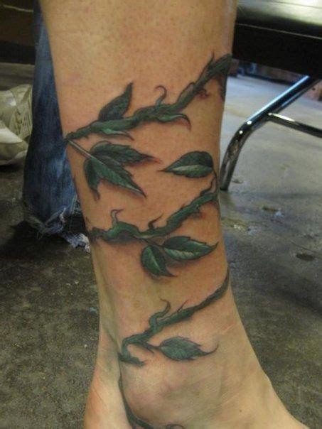 leg rose vine tattoos ankle foot wrap tattoos vine meanings back cool