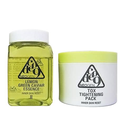 neogen code9 lemon green caviar essence tox tightening pack neogen peeling and scrub