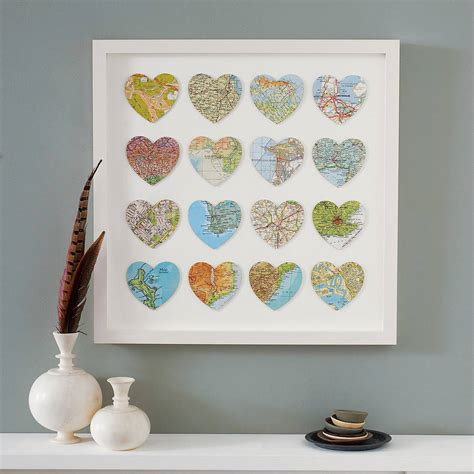Wedding Gift Not On The High by Sixteen Map Location Hearts Wedding Anniversary Print By