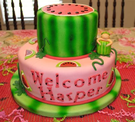 Watermelon Baby Shower Cake by Watermelon Baby Cakecentral