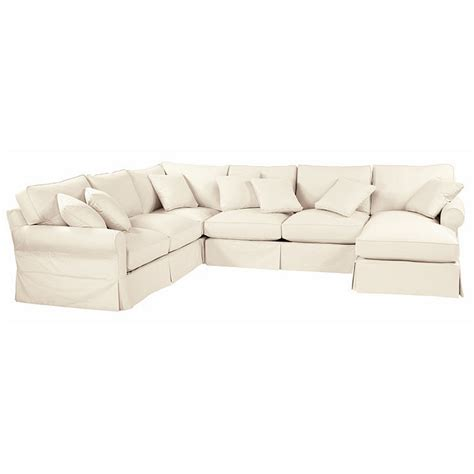 baldwin slipcover baldwin 4 piece sectional right arm chaise left arm