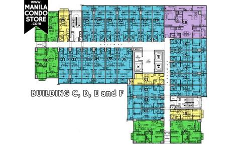 sm mall of asia floor plan smdc sea residences