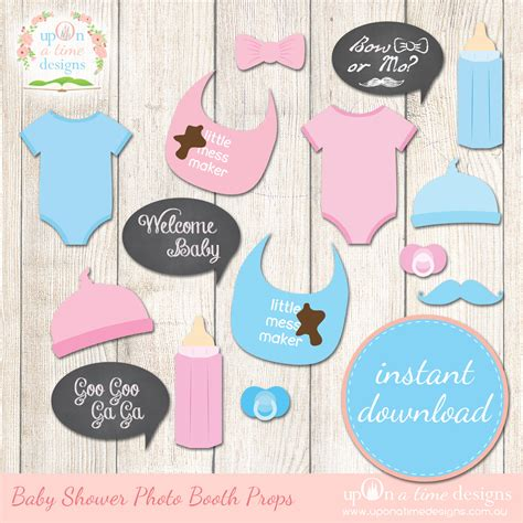 free printables for baby shower photo booth 9 best images of printable baby shower props booth props