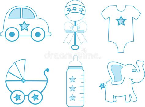 clipart neonato elementi neonato illustrazione vettoriale