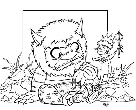 where the wild things are coloring pages free az