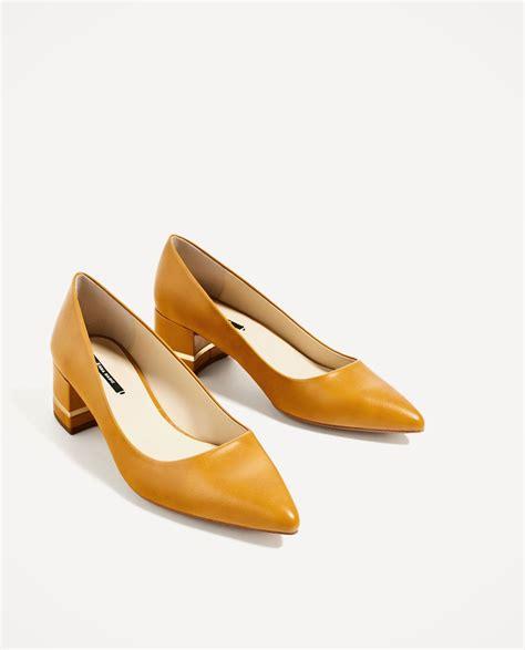 Zara Zapato zapato tac 211 n ancho detalle metal zapatos tac 243 n zapatos