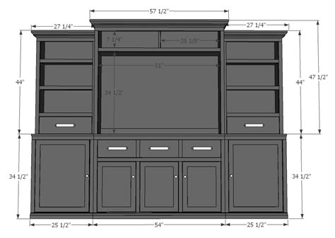 entertainment center building plans free home deco plans