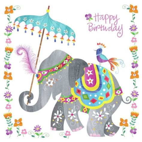 indian design happy birthday happy birthday wishes with elephants
