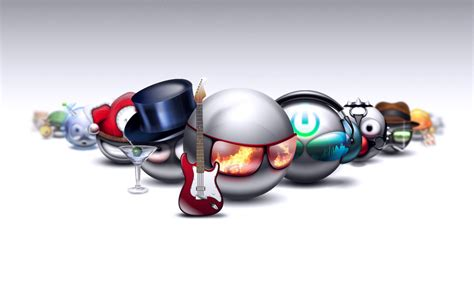 wallpaper emoticon 3d rocking smileys wallpapers hd wallpapers id 8239