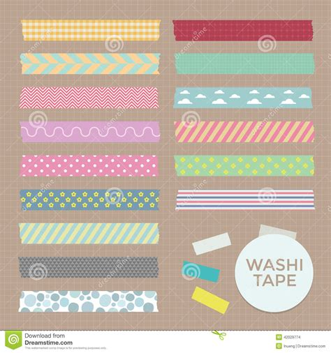 what is washi tape vector collection of cute patterned washi tape strips