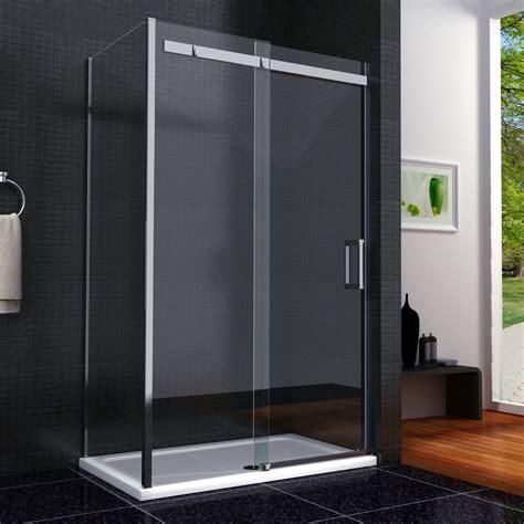 1100 Sliding Shower Door 1100 X 800 Frameless Shower Enclosure Sliding Door Side Panel Easyclean Sp1 Ebay