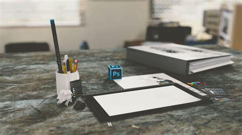 desk photoshop pencils paper free stock photo negativespace