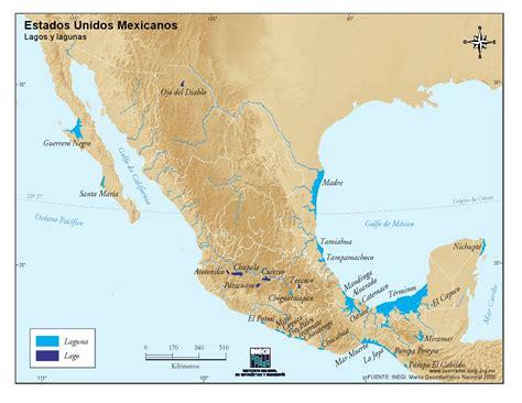 mapa de mexico con rios mapa rios y lagos de mexico