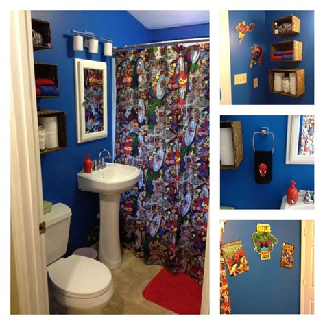 spiderman bathroom accessories retro marvel bathroom mom made the shower curtain