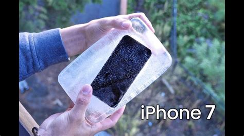 frozen iphone 7 block drop test it survive 50
