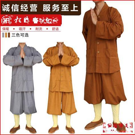 unisex buddhist monks costume shaolin temple clothing robe