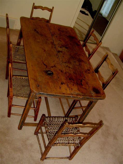 primitive kitchen table canadian pine wood furniture