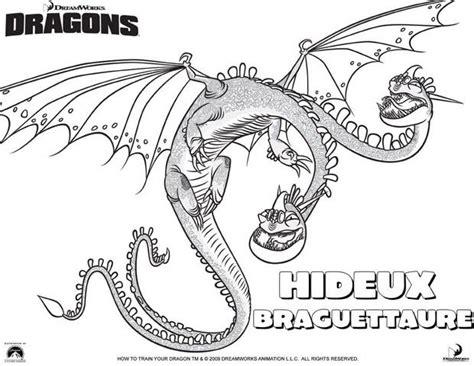 Coloriages Le Dragon Hideux Braguettaure Fr Hellokids Com Coloriage Astrid Et Les Dragons L