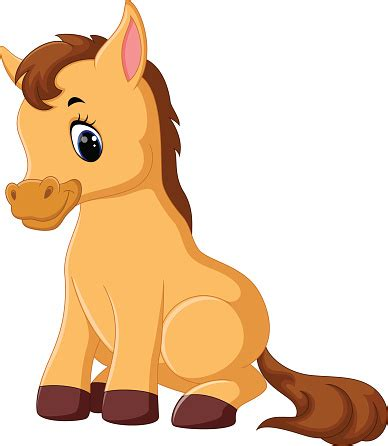 cute cartoon baby pony cute horse clipart best