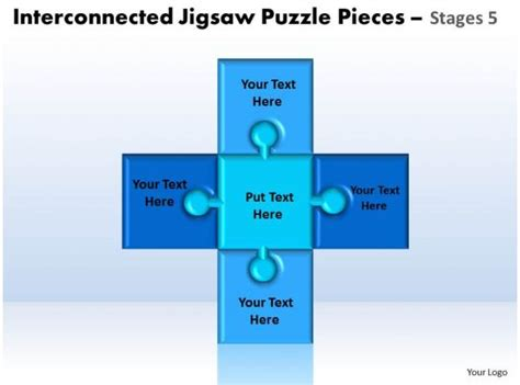interconnected jigsaw puzzle pieces stages  powerpoint