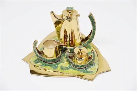 Handmade Tea Set - salvador teran tea set handmade in mexico 1952 for sale