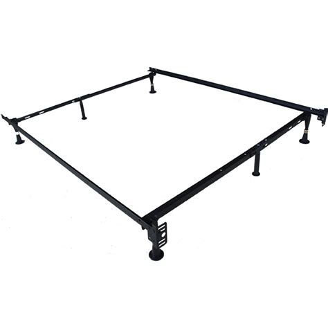 full size adjustable bed frame 6 leg adjustable 2 in 1 twin full size metal bed frame
