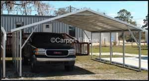 2 Car Metal Carport 18x21x6 Two Car Steelcarport Carport Empire
