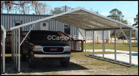 Two Car Metal Carport 18x21x6 Two Car Steelcarport Carport Empire
