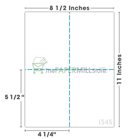 4 1 4 x 5 1 2 card template perforated paper shop