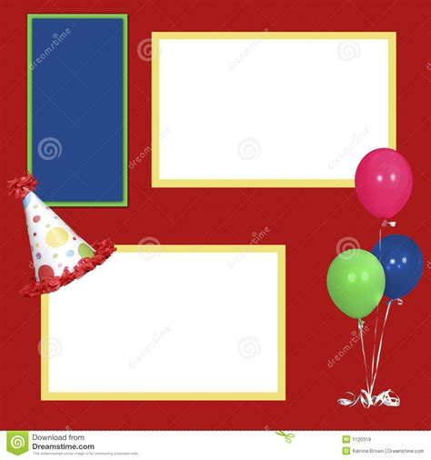 photo layout for birthday birthday girl scrapbook page layout stock illustration