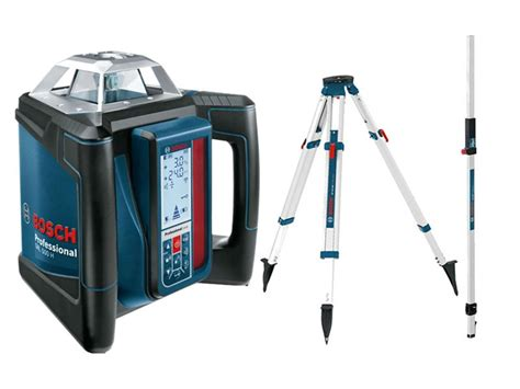 bosch laser level bosch 06159940ee rotary laser level with tripod and cut and fill rod