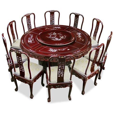 66in rosewood pearl inlay design dining table with