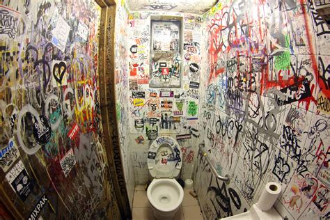 graffiti bathroom the great american disconnect political comments at least