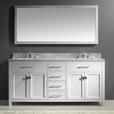 bathroom vanities with tops double sink shop virtu usa caroline white undermount double sink