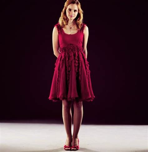 emma watson red dress emma watson in a red dress promo pics for harry potter and