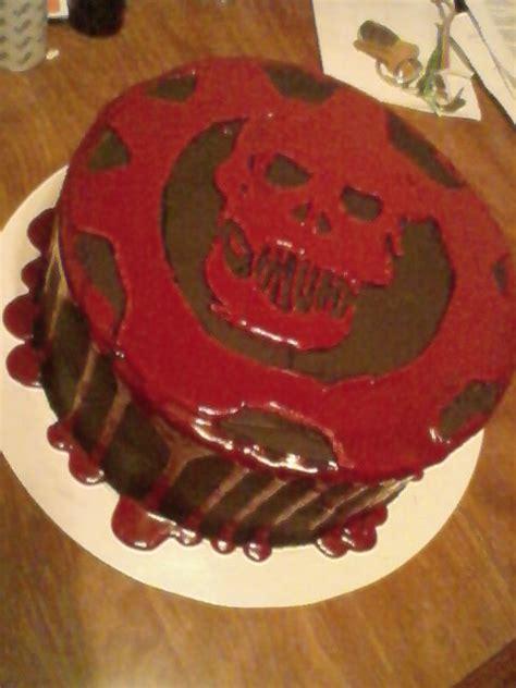 gears of war birthday cake from sweet dreams bakery tennessee crimson omen cake by mysticacademy on deviantart