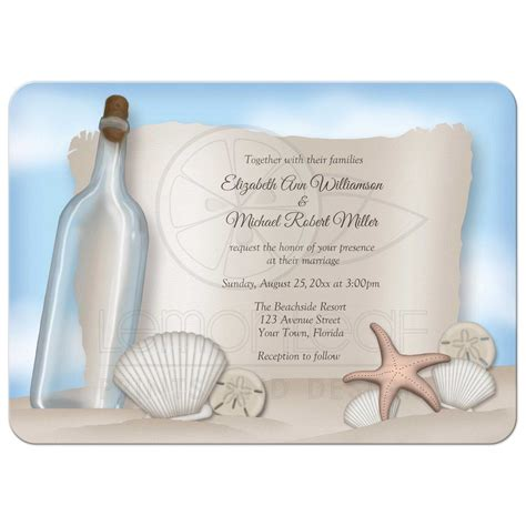 wedding invite message in a bottle wedding invitations message from a bottle