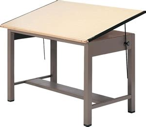 Mayline Drafting Table Parts Mayline 7732 Ranger Steel Four Post Drafting Table 42 Quot W X 30 Quot D Desert Base Birch Top