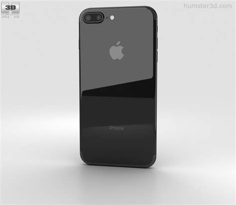 apple iphone 7 plus jet black 3d model electronics on hum3d
