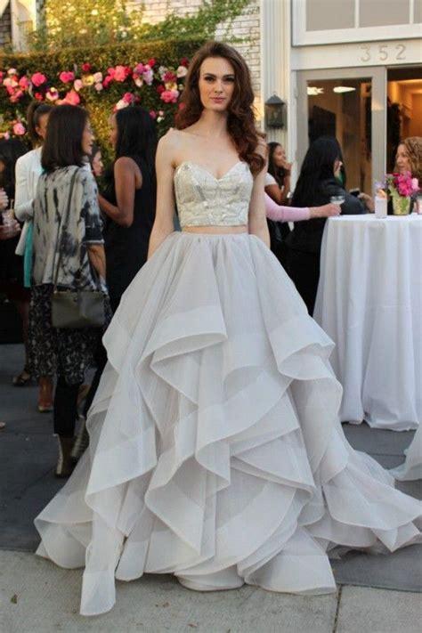 17 best ideas about 2 piece wedding dress on pinterest